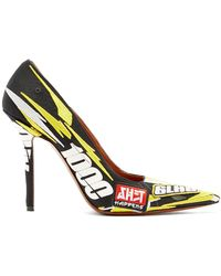 Vetements - Racer-embroidered Point-toe Pumps - Lyst