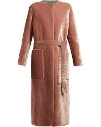 Bottega Veneta - Velvet Belted Coat - Lyst