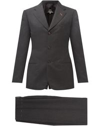 Maison Margiela ウールシングルスーツ - グレー