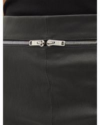 Givenchy Pantalon ajusté taille haute zippé en cuir - Noir