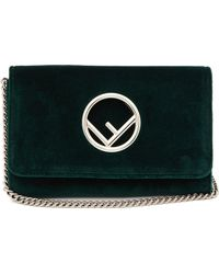 Fendi Kan I Logo Velvet Cross Body Bag - Multicolour