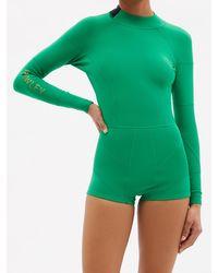 Cynthia Rowley Cheeky Heart 2.5mm Short Neoprene Wetsuit - Green