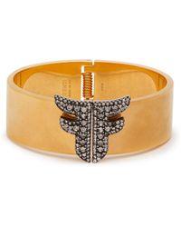 Fendi - Ffreedom Crystal Embellished Cuff - Lyst