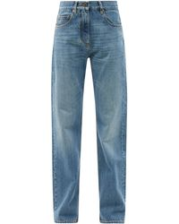 Valentino Vロゴ ストレートジーンズ - ブルー