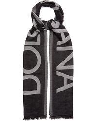 Dolce & Gabbana ロゴジャカード コットンブレンドスカーフ - マルチカラー