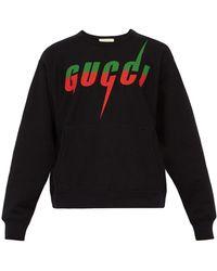 Gucci Blade Cotton Sweatshirt - Black