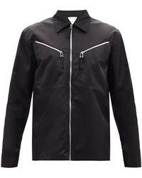 Bottega Veneta Zipped Gabardine Shirt - Black