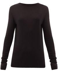 Raey オーガニックウール ロングスリーブtシャツ - ブラック