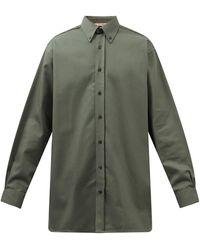 Acne Studios スパルタン コットンブレンドツイルシャツ - グリーン