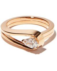 Repossi - Bague en or rose et diamant Serti Inversé - Lyst