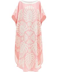 Hester Bly The Taula Butterfly-print Silk Tunic Dress - Pink