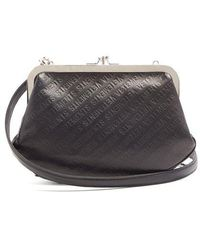 Vetements - Granny Logo-debossed Leather Cross-body Bag - Lyst