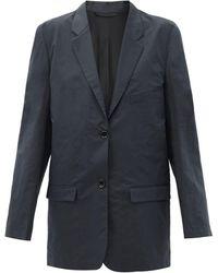 Lemaire ポプリン シングルジャケット - ブルー
