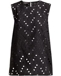 Rochas - Aline Bow Embellished Sangallo Lace Top - Lyst