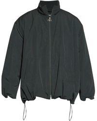 Balenciaga Oversized Bb Logo Striped Cotton Track Jacket - Multicolor
