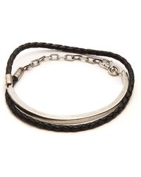 Title Of Work - Leather And Sterling Silver Wraparound Bracelet - Lyst