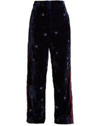 Jupe by Jackie - Moritz Wide-leg Silk-velvet Trousers - Lyst