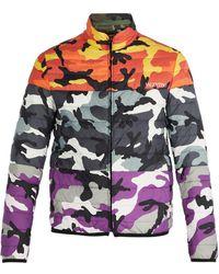 Valentino - Veste en duvet réversible à imprimé camouflage - Lyst
