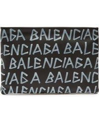 Balenciaga - Carry Clip M Grained Leather Pouch - Lyst
