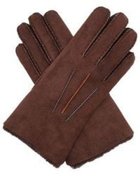Paul Smith - Contrast-stitched Shearling Gloves - Lyst