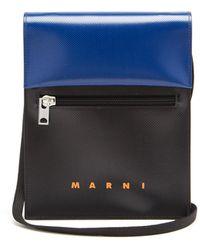 Marni Bicolour Pvc Cross-body Bag - Blue