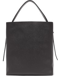 Valextra - Sacca Medium Grained-leather Tote Bag - Lyst
