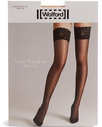 Wolford - Satin Touch Stay-up Tights - Lyst