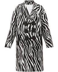 Andrew Gn - Zebra Jacquard Evening Coat - Lyst