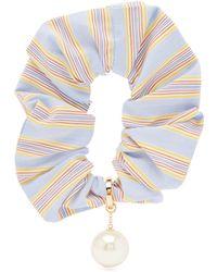 Miu Miu Chouchou rayé à ornements perles - Multicolore