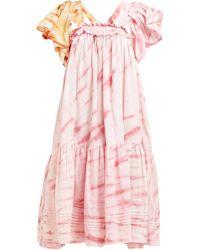STORY mfg. Aida Tie-dye Organic-cotton Dress - Pink