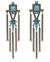 Valentino - Crystal-embellished Clip-on Earrings - Lyst