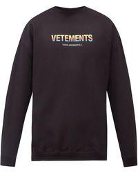 Vetements コットンブレンドスウェットシャツ - マルチカラー