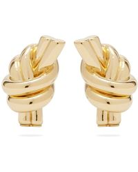 JW Anderson - Knot Gold-plated Brass Earrings - Lyst