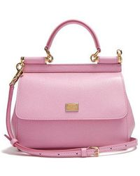 Dolce & Gabbana - Sicily Small Dauphine-leather Bag - Lyst
