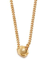 Black Dakini - Bead-embellished Gold-vermeil Necklace - Lyst