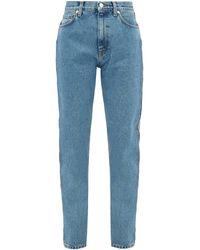 Christopher Kane Crystal-embellished Straight-leg Jeans - Blue