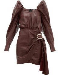 Dodo Bar Or Mona クリスタルバックル レザードレス - ブラウン