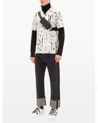 Dolce & Gabbana Embossed-logo Leather Crossbody Pouch - Black