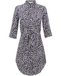 Heidi Klein Tanzania Leopard-print Shirt Dress - Multicolor