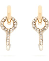 Charlotte Chesnais - Twin Diamond & 18kt Gold Earrings - Lyst