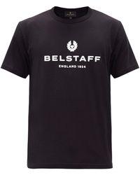 Belstaff ロゴプリント コットンtシャツ - ブラック
