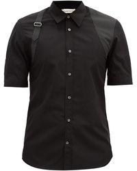 Alexander McQueen ハーネス&ポルカドットシャツ - ブラック