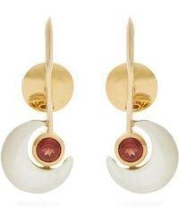 Ara Vartanian - X Kate Moss Garnet & Gold Earrings - Lyst