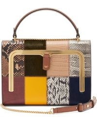 Anya Hindmarch Postbox Small Patchwork-leather Bag - Multicolor