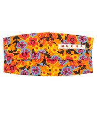 Marni Floral-print Cotton Face Covering - Multicolour