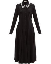 Christopher Kane ビーズ オーガニックコットン シャツドレス - ブラック
