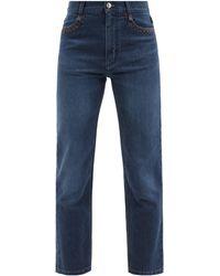 Chloé High-rise Cropped Flared-leg Jeans - Blue