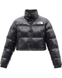 The North Face ヌプシ クロップド ダウンジャケット - ブラック
