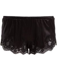 Dolce & Gabbana - Lace Trimmed Silk Blend Shorts - Lyst