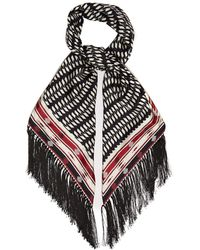 Gabriela Hearst Geometric Print Silk Twill Scarf - Black